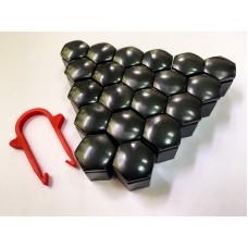 Колпачки на колесные болты, пластиковые, цвет черный,  М 17 - 22351