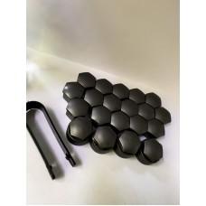 Колпачки на колесные болты, пластиковые, цвет серый М 17 - 22374