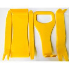 Профессиональный набор из 5 инструментов для снятия обшивки и демонтажа деталей интерьера автомобиля - 20804