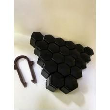 Колпачки на колесные болты, пластиковые, цвет черный М 19 - 22354