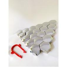 Колпачки на колесные болты, пластиковые, цвет хром,  М 17 - 22356