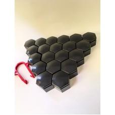 Колпачки на колесные болты, пластиковые, цвет черный М 22 - 22369
