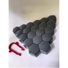 Колпачки на колесные болты, пластиковые, цвет серый М 22 - 22370