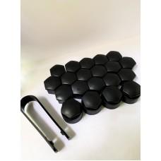 Колпачки на колесные болты, пластиковые, цвет черный,  М 17 - 22375